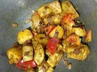 Jackfruit prawn curry(chingri diye enchorer dalna)