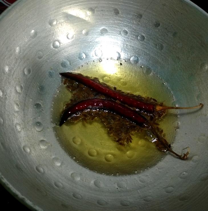 Delicious dal(split chickpeas) fry