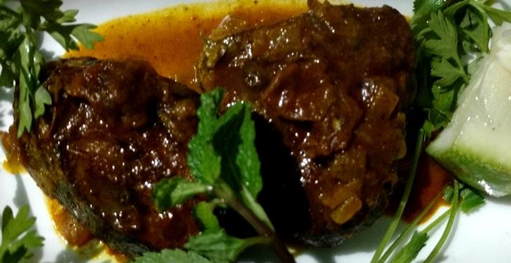 dry curry of tuna fish