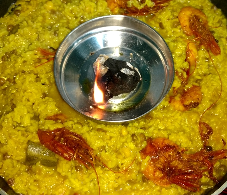 how to make chingrir bhuna khichuri/prawn Polenta