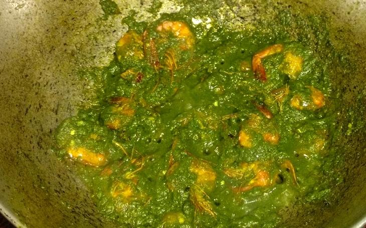 how to make ghatkul/kharkol pata diye chingri