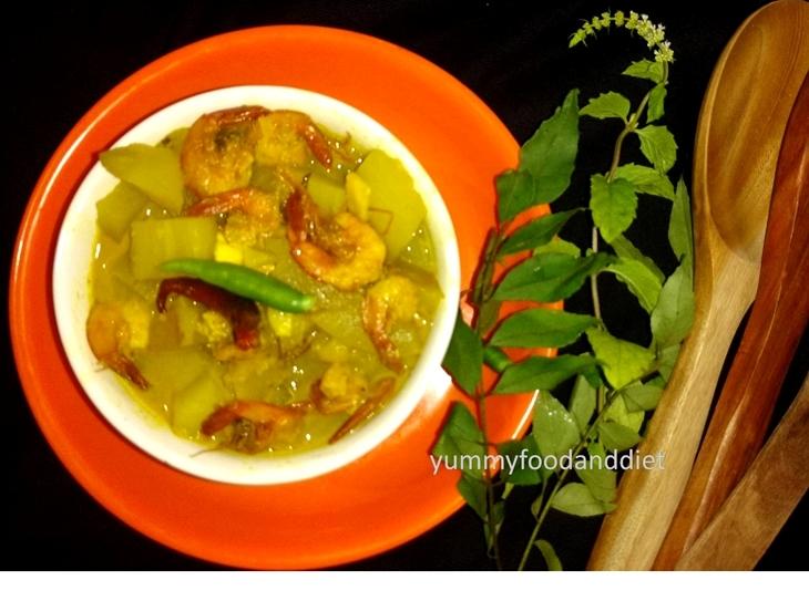 How to make tasty lau pepe chingri