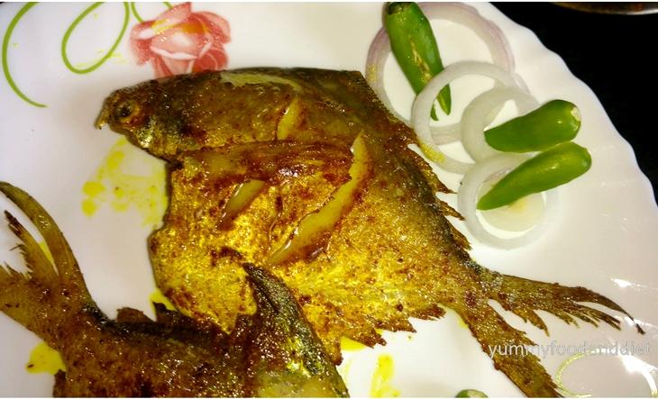 How to make pomfret maach bhaja